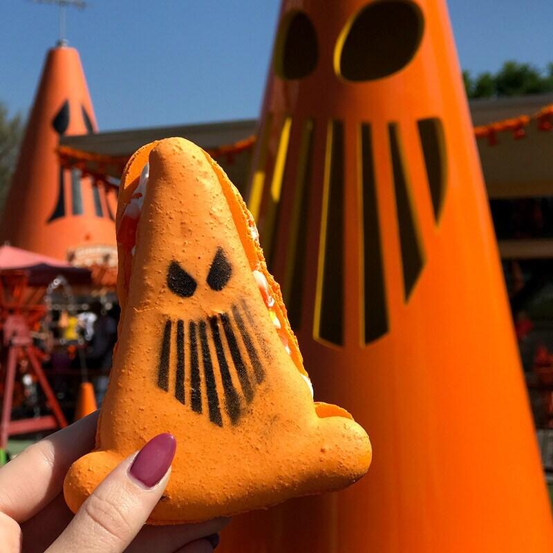 Orange Halloween cone macroons