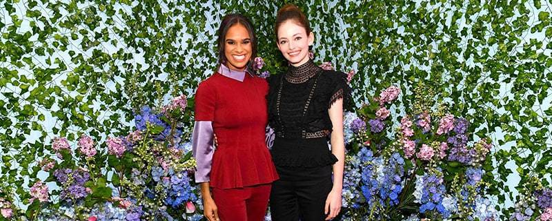 Mackenzie Foy and Misty Copeland in The Land of Flowers portion of The Nutcracker and the Four Realms New York City pop-up experience
