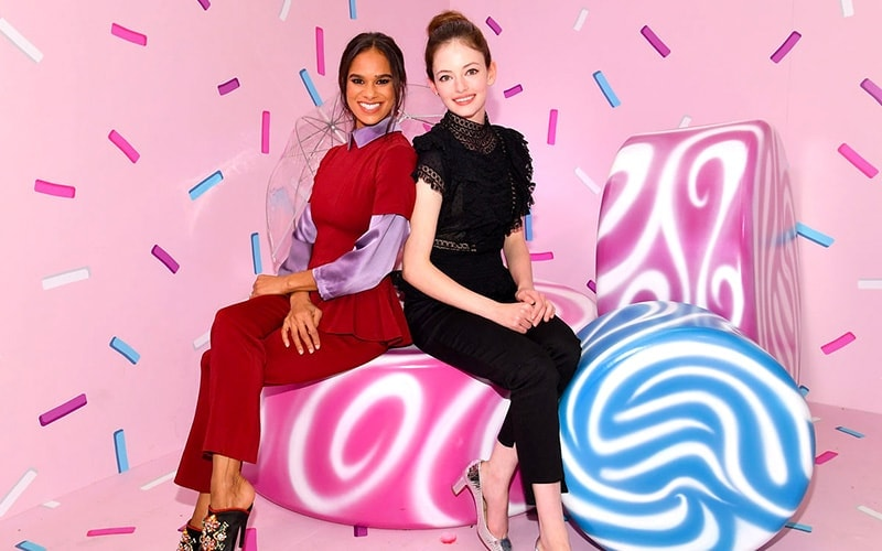 Mackenzie Foy and Misty Copeland in The Land of Sweets portion of The Nutcracker and the Four Realms New York City pop-up experience