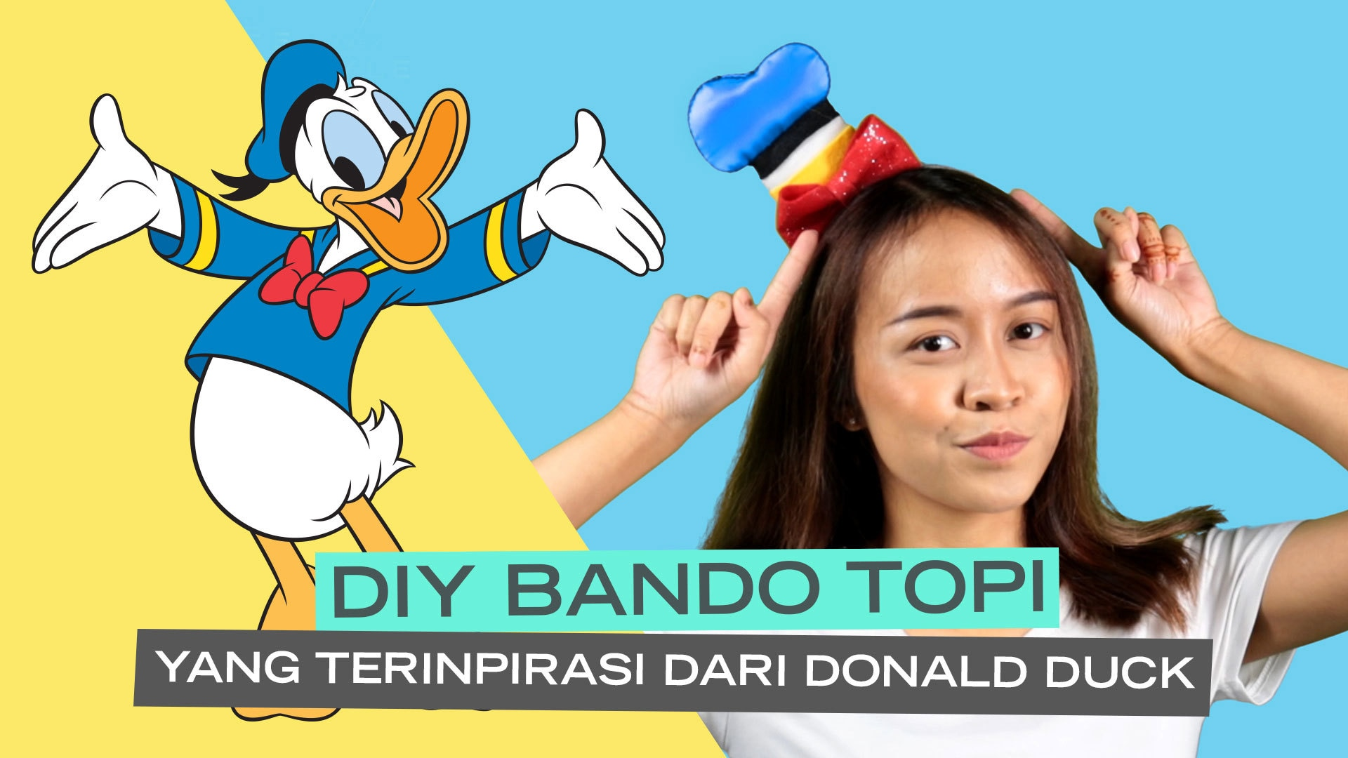 Disney Style: Donald Duck DIY hat headband