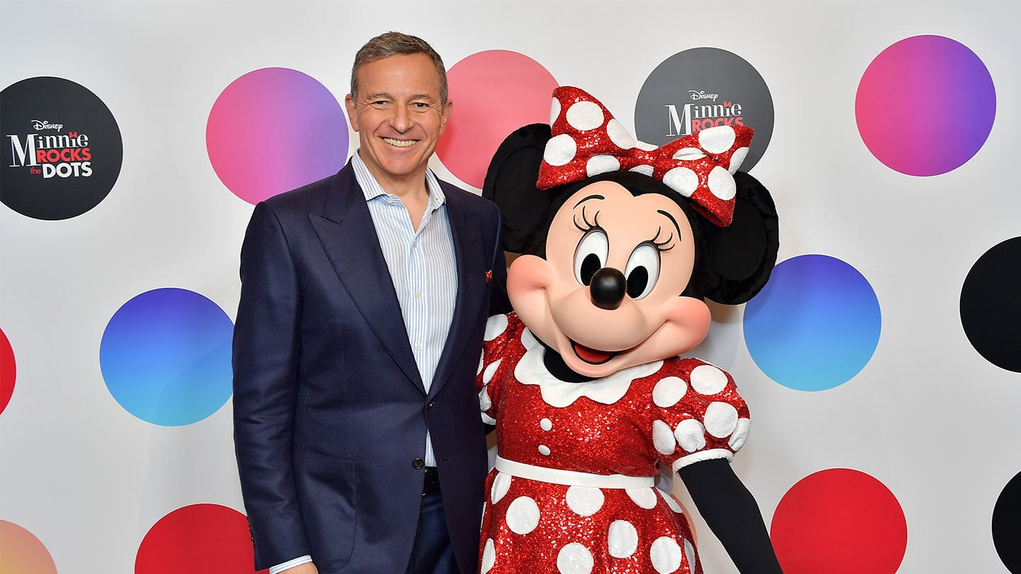 Bob Iger and Minnie Mouse