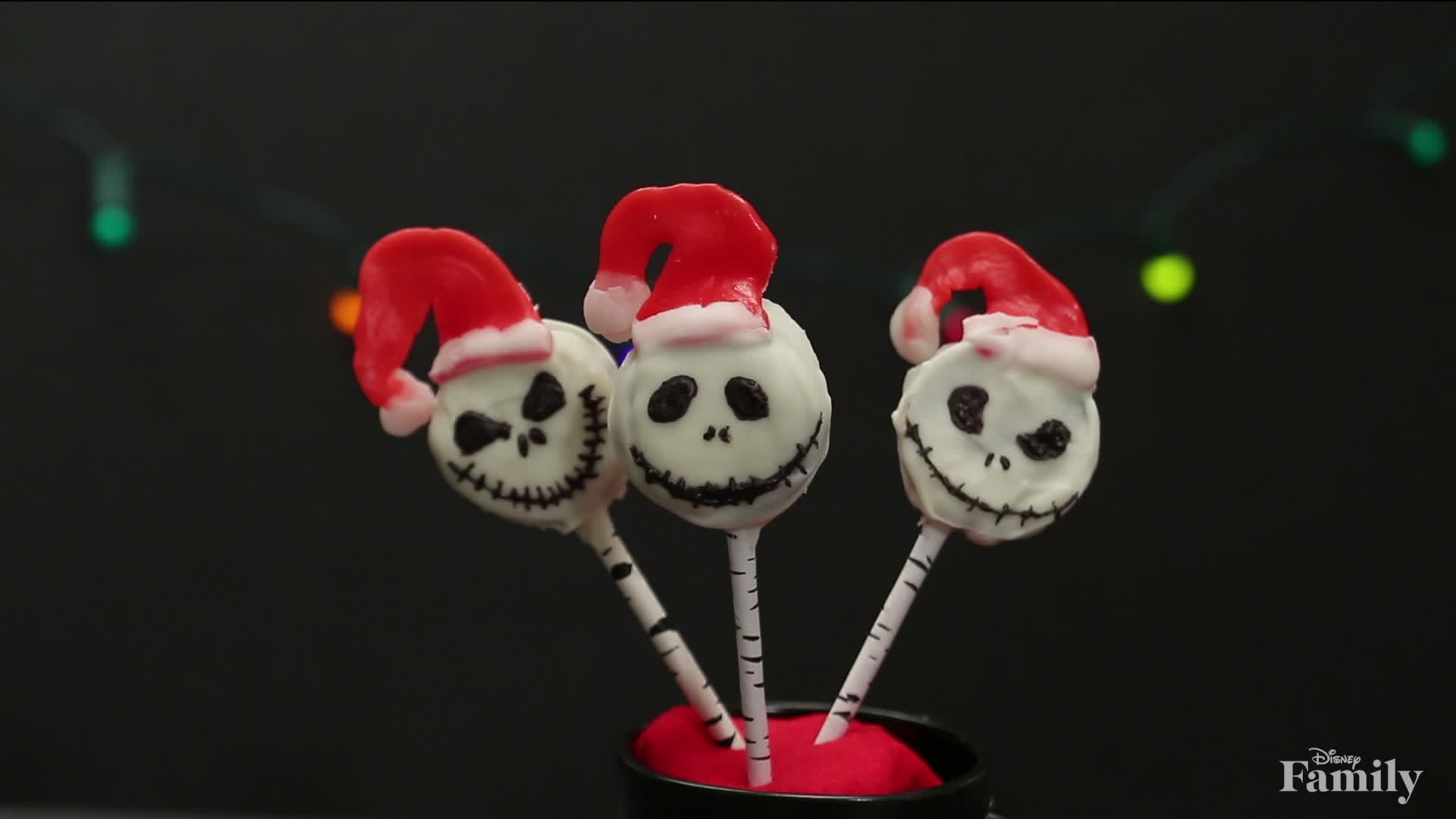 Jack Skellington Cookie Pops | Dishes by Disney
