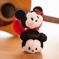 Image of Mickey and Minnie Mouse ''Tsum Tsum'' Plush Set - Mini - 3 1/2'' - Spain # 4