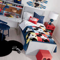 Image of Mickey Mouse Color Block Mickey Quilt by Ethan Allen # 4