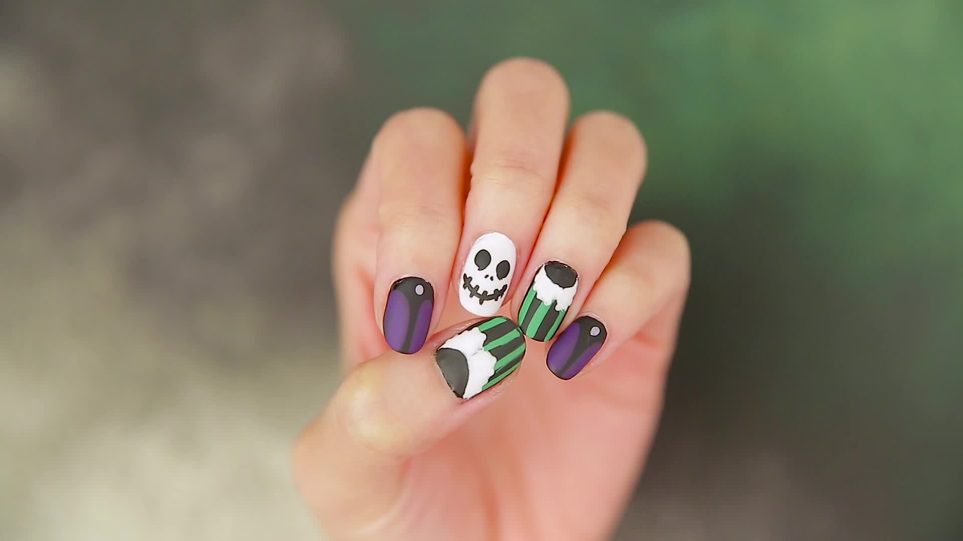 Haunted Mansion Holiday Nails with Steph Stone | Disney Video