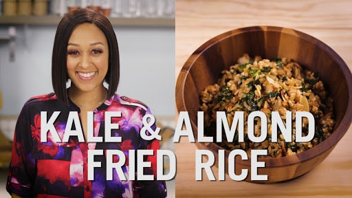 Tia Mowry's Kale and Almond Fried Rice