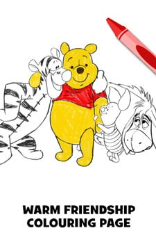 Warm Friendship Colouring Page