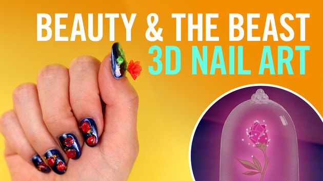 Beauty and the Beast 3D Deco Nail Art | TIPS by Disney Style