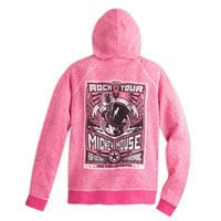 Mickey Mouse Rock 'n Roller Coaster Hoodie for Women - Pink