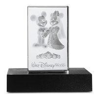 Mickey and Minnie Mouse Wedding Laser Cube by Arribas - Walt Disney World