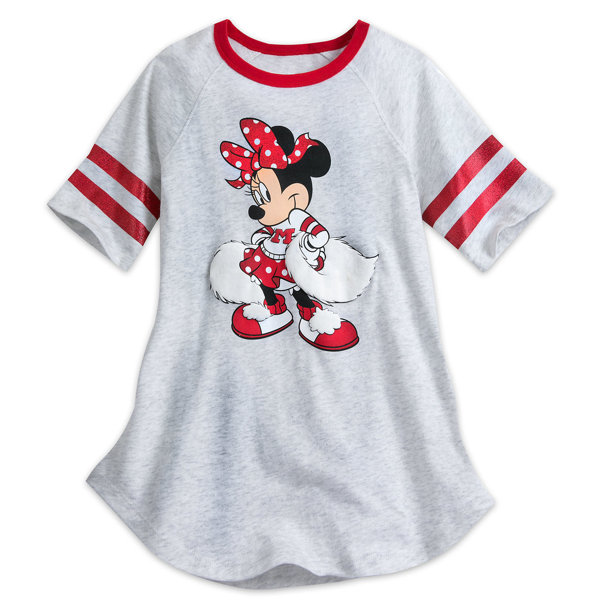 74e9ce88fe06 Product Image of Minnie Mouse Cheerleader Tee for Girls - Walt Disney World  # 1