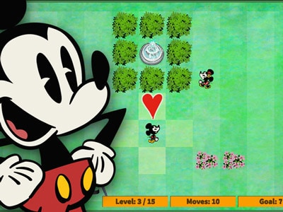 Mickey & Minnie: Parijse Park Puzzel