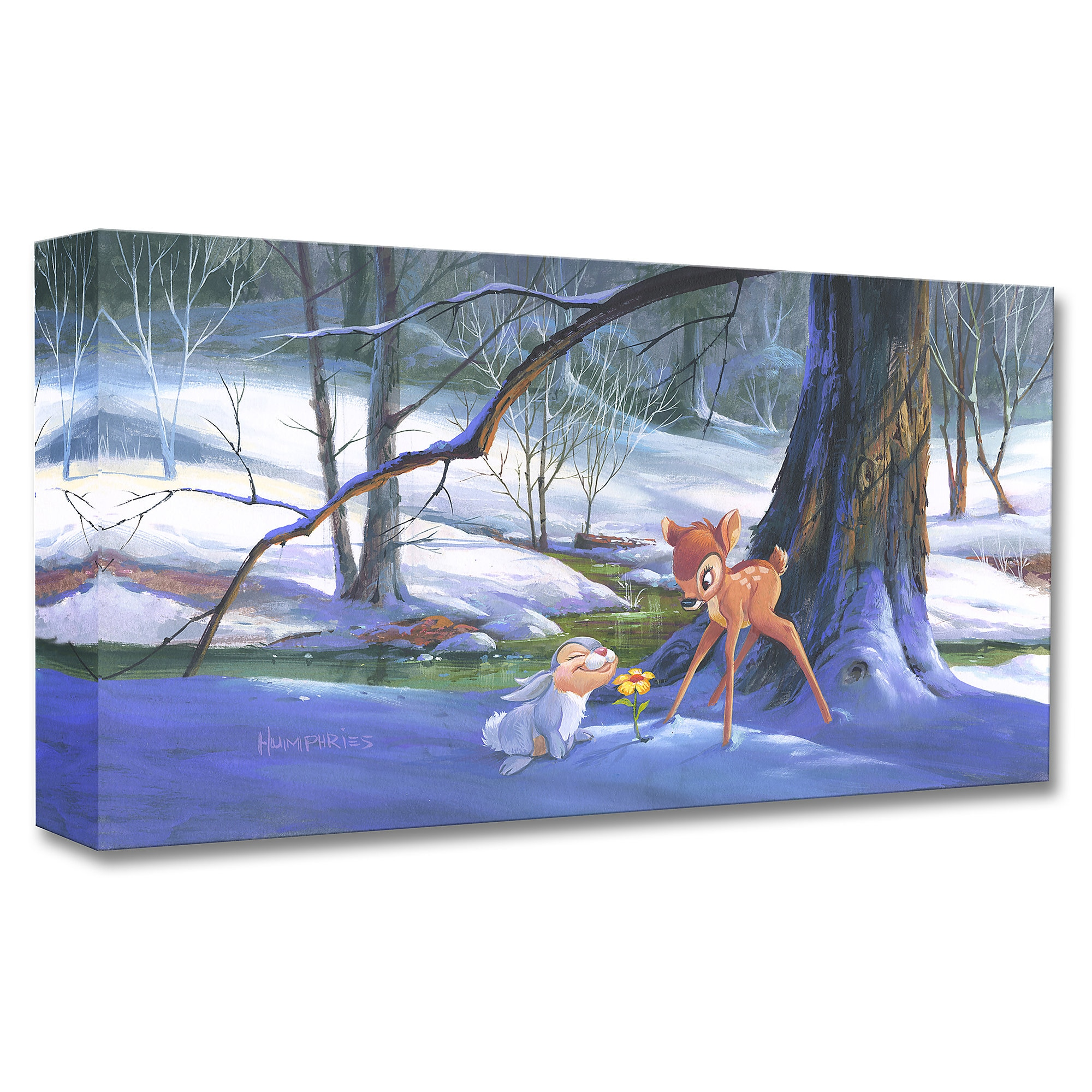 Bambi ''First Hint of Spring'' Giclée by Michael Humphries