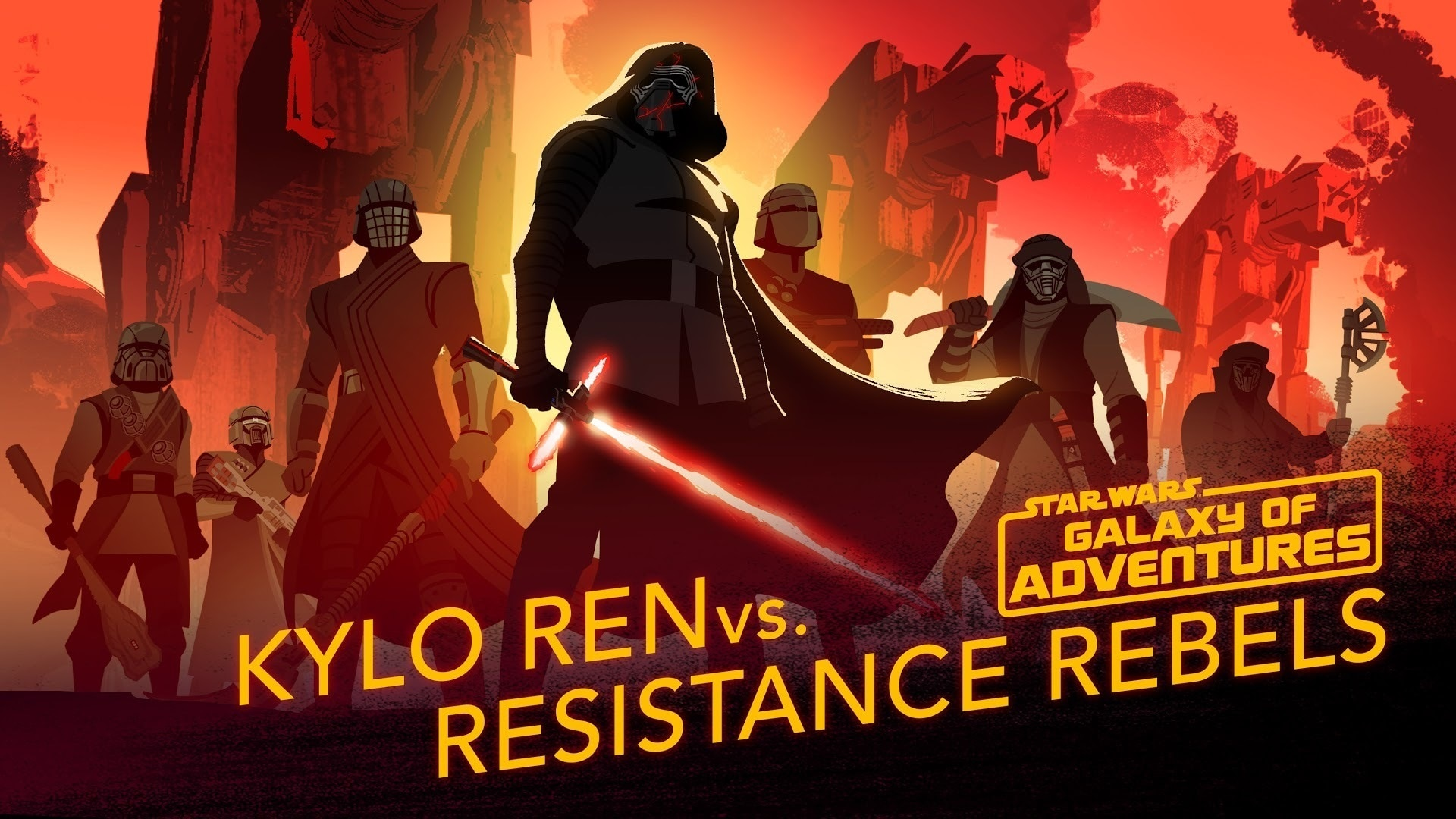Kylo Ren vs. Resistance Rebels | Star Wars Galaxy of Adventures
