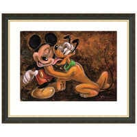 Image of ''Mickey and Pluto'' Giclée by Darren Wilson # 3