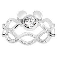 Mickey Mouse Single Crystal Eternity Ring by Arribas Brothers