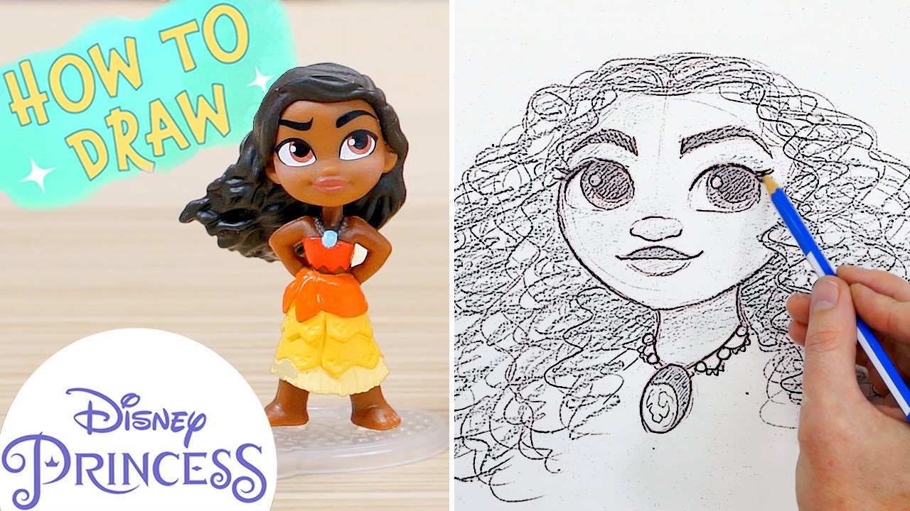 How to Draw Moana! | Disney Princess