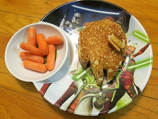 Star Wars Day Recipe: Grilled Cheese and Ham Solo Sandwich