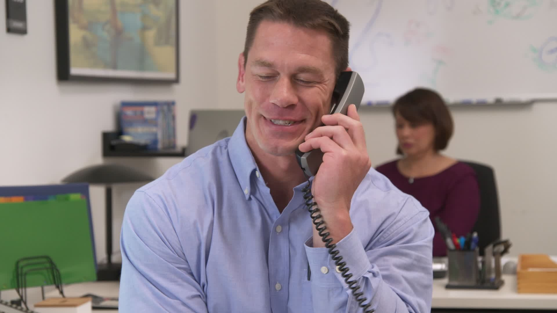 "John Cena ""Intern For A Day"""