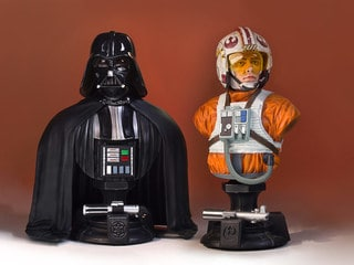 First Look at Gentle Giant's SDCC-Exclusive 40th Anniversary Luke Skywalker and Darth Vader Mini Busts