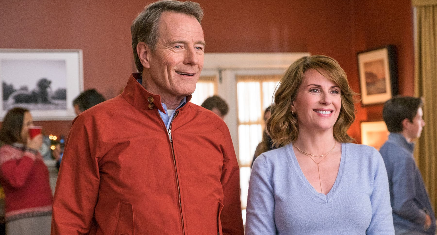 "Bryan Cranston and Megan Mullally in ""Why Him?"""