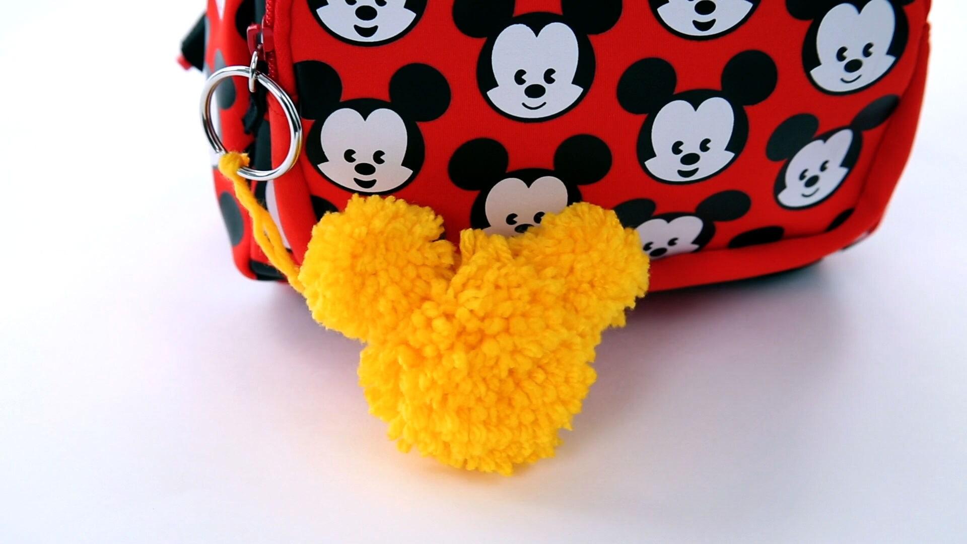 Mickey Pom-Pom Keychain | Disney DIY