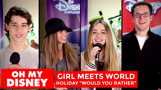 "Holiday ""Would You Rather"" with the Cast of Girl Meets World"