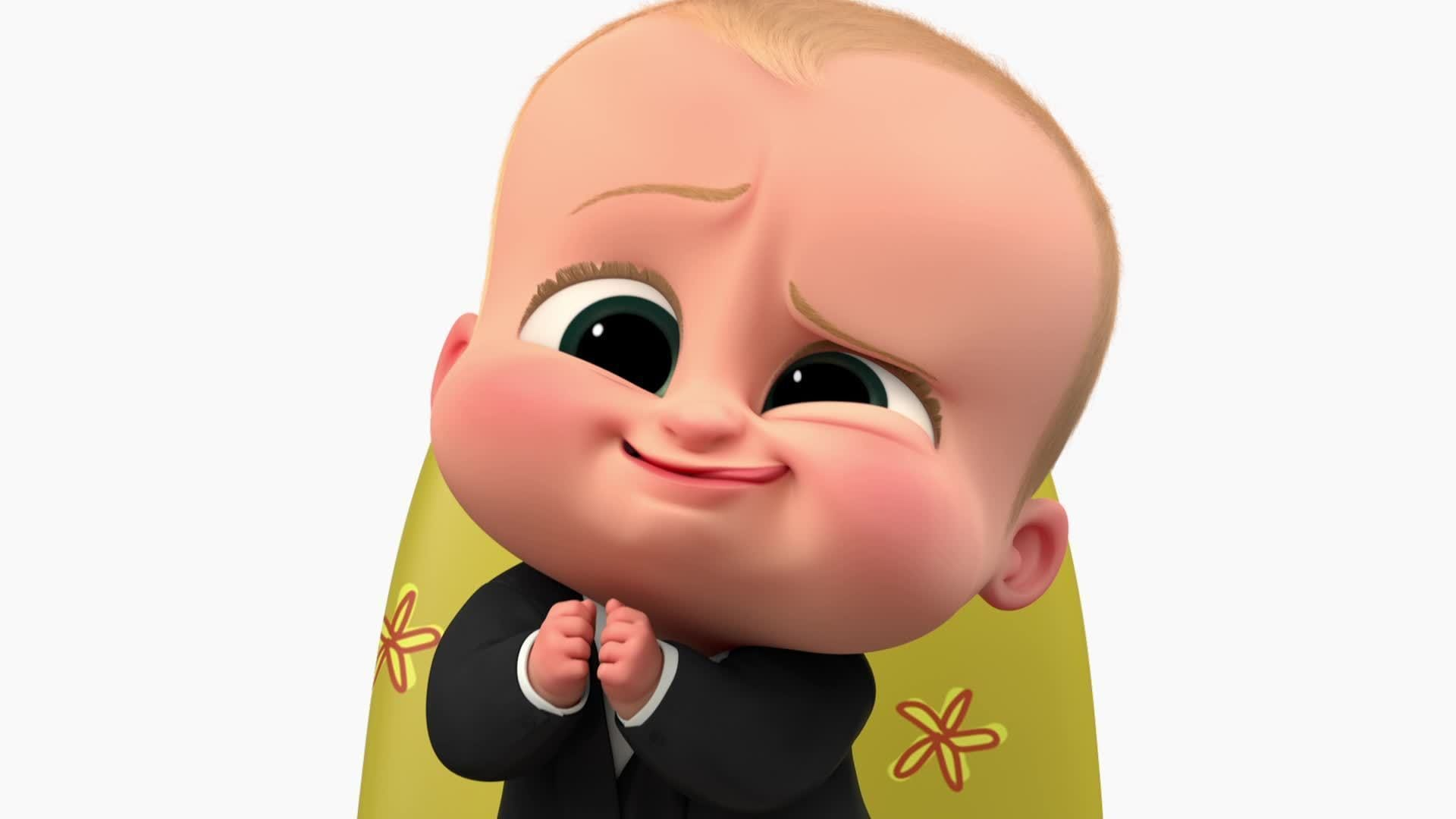 Boss Baby Talks Cute Face