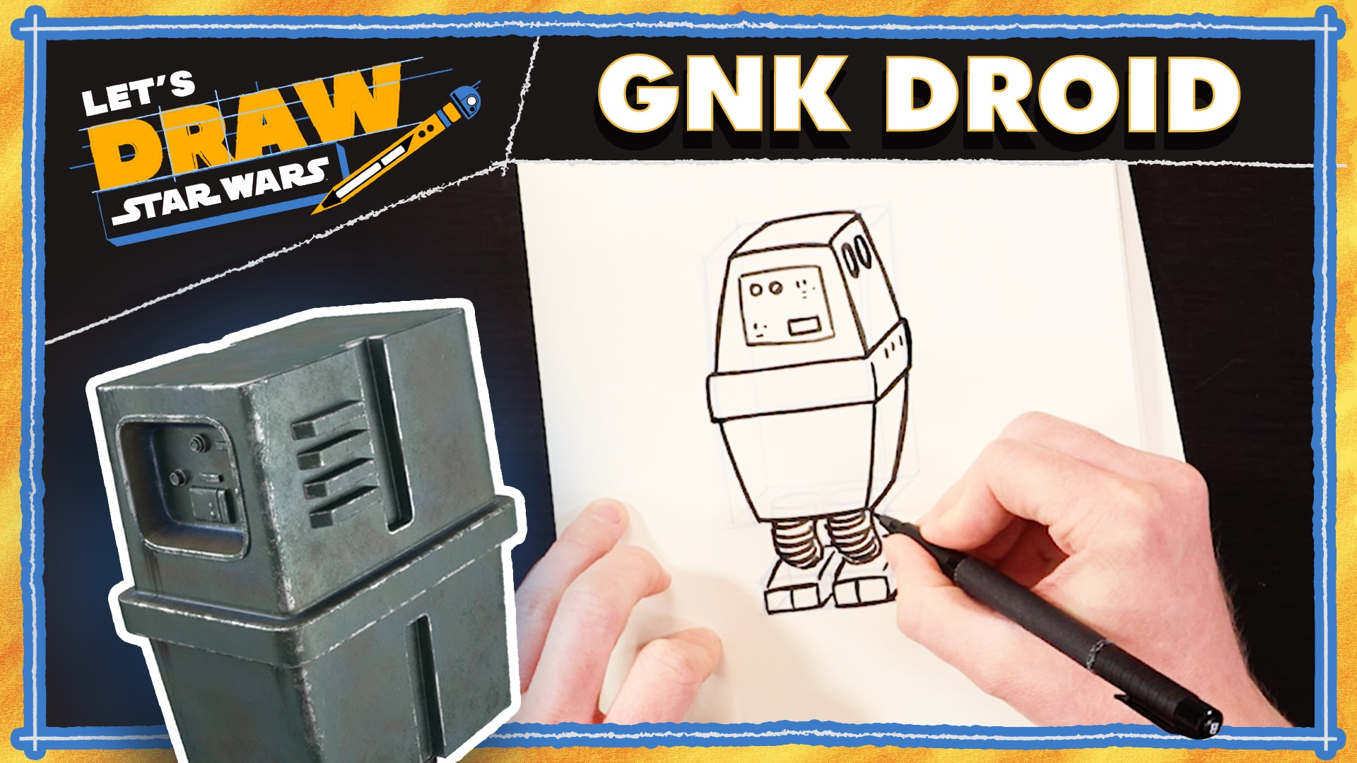 Jedi Holocron & Gonk Droid Tutorial | Let's Draw Star Wars