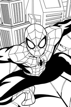 Spideys Web Coloring Page