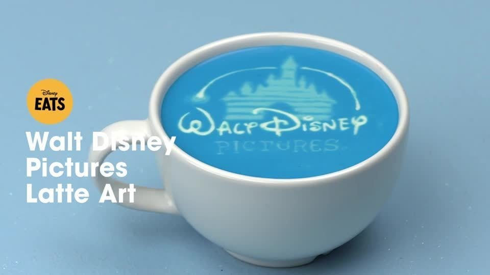 Walt Disney Pictures Latte Art | Disney Eats