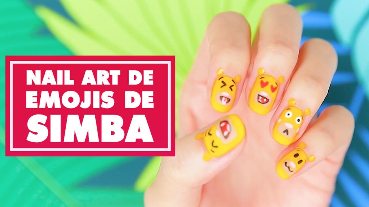 Nail Art de emojis de Simba | Oh My Disney