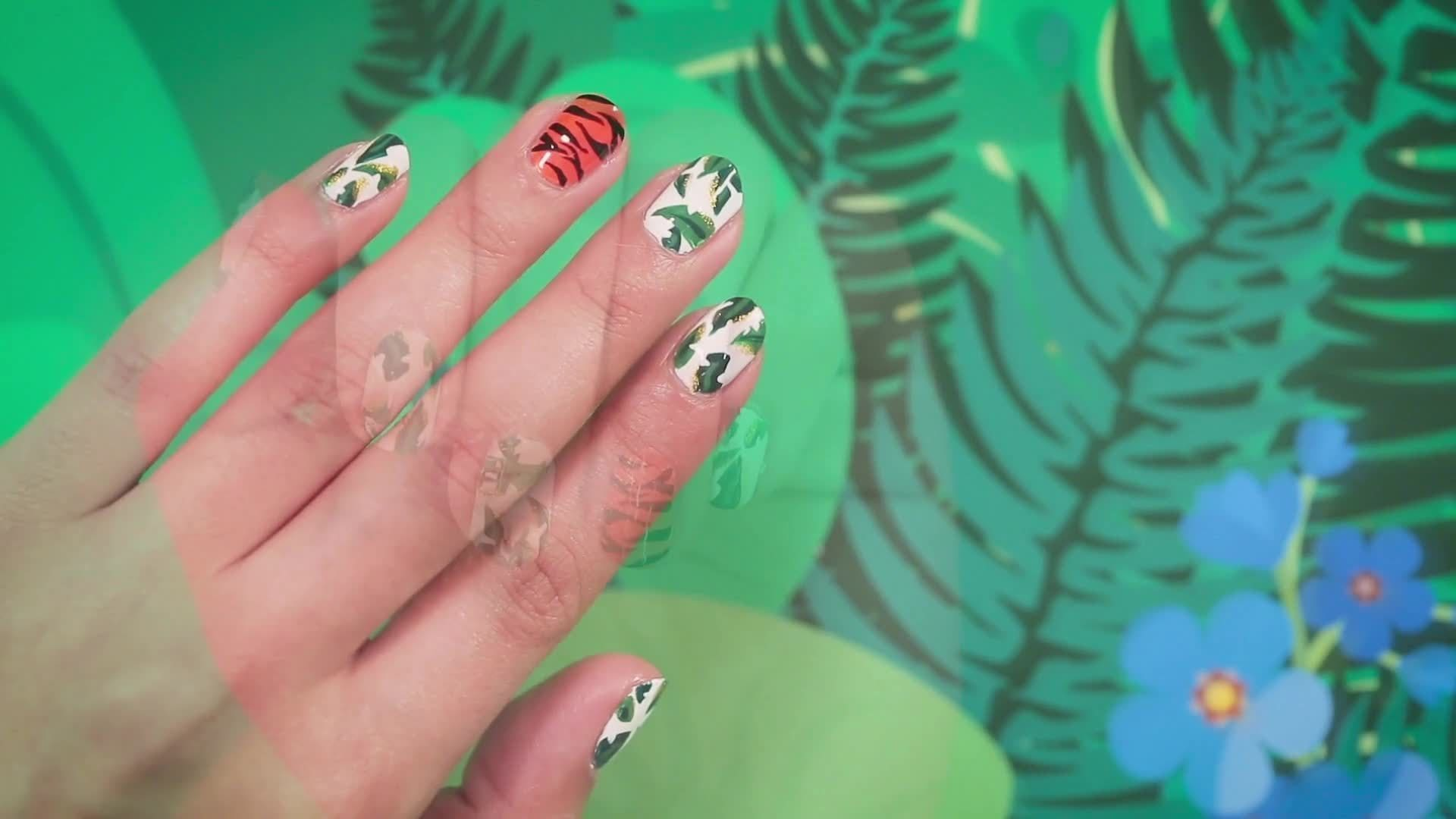 How To Create Jungle Book Nail Art | Disney Style