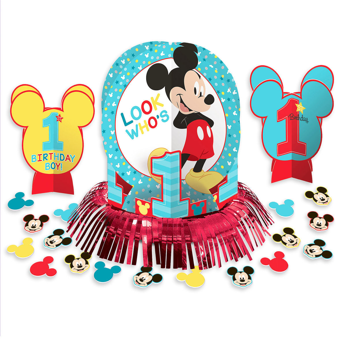 Product Image Of Mickey Mouse 1st Birthday Table Decorating Kit 1