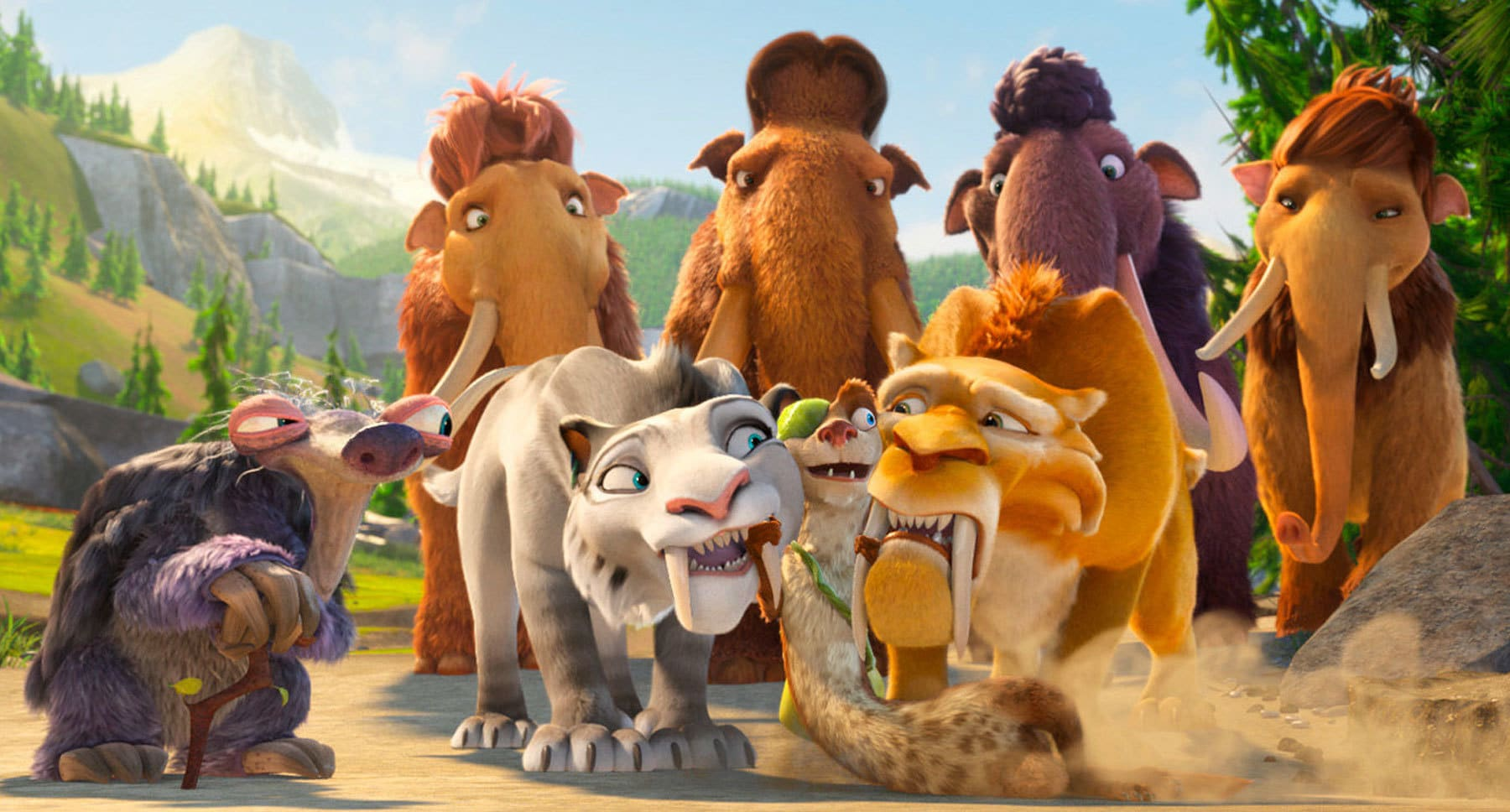"Animated characters from the movie ""Ice Age: Collision Course"""