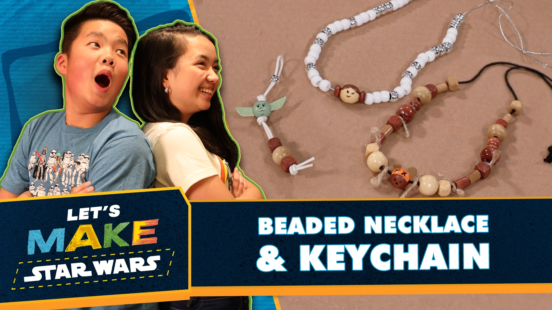 How to Make a Beaded Necklace and Keychain | Let's Make Star Wars