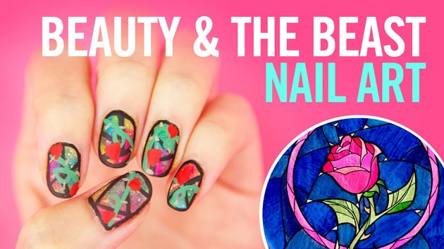 Beauty and the beast nail art tutorial disney video video thumbnail for beauty and the beast nail art tutorial prinsesfo Gallery