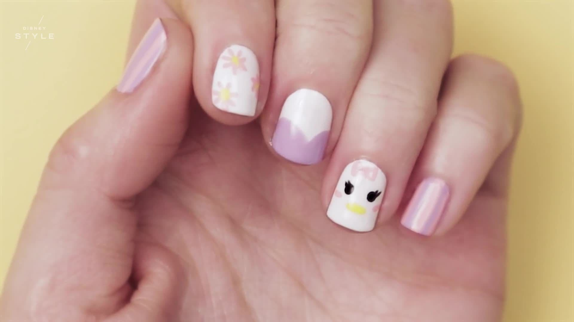 Daisy Duck Nail Art | TIPS | Disney Style
