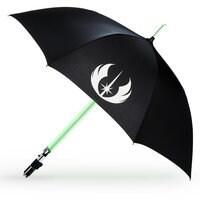 Image of Yoda Light-Up Lightsaber Umbrella # 1