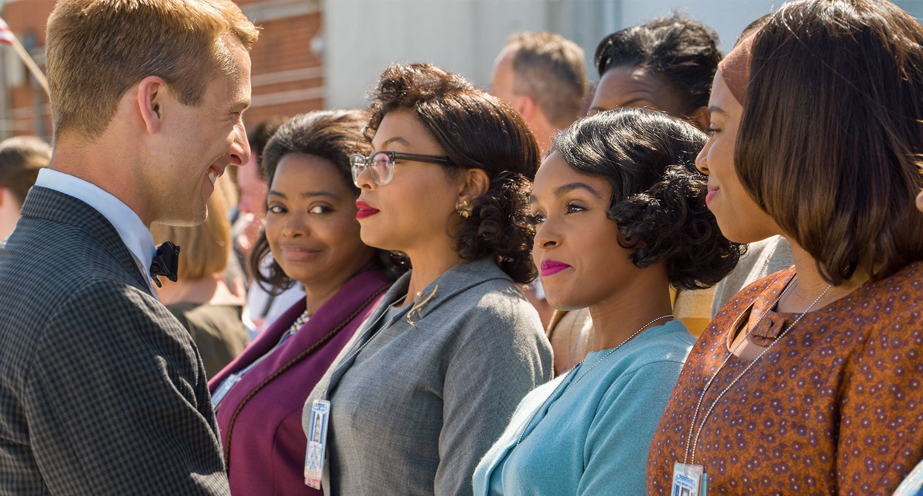"Actors Octavia Spencer, Taraji P. Henson and Janelle Monáe in the movie ""Hidden Figures"""