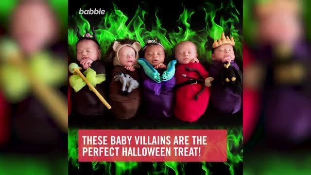 Mom Transforms Eight Babies Into Disney Villains for a Perfect Halloween Treat
