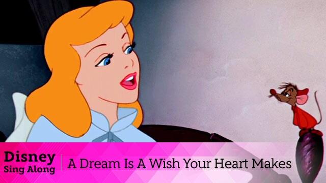 วิดีโอเนื้อเพลง A Dream Is A Wish Your Heart Makes จากภาพยนตร์ Cinderella