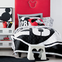 Image of Mickey Mouse 28 Varsity Quilt by Ethan Allen # 2