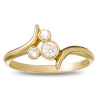 Image of Diamond Mickey Mouse Icon Ring - 14K Yellow Gold # 1