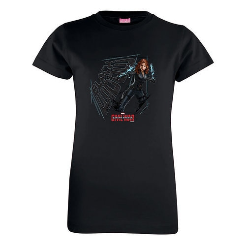 Black Widow Tee for Girls: Captain America: Civil War - Customizable