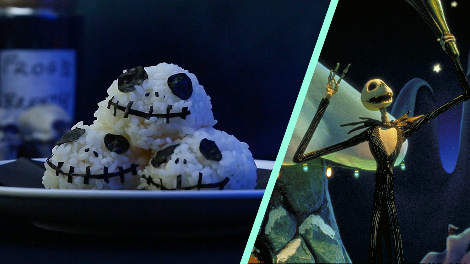 These Jack Skellington-Inspired Pumpkin Onigiri Are Fit For A Pumpkin King