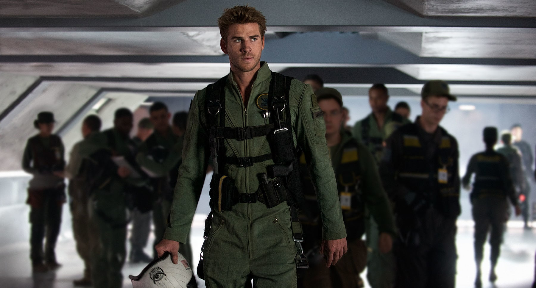 "Actor Liam Hemsworth as Jake Morrison in the movie ""Independence Day: Resurgence"""