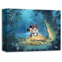 Image of Mickey Mouse and Minnie ''Family Camp Out'' Giclée by Rob Kaz # 1