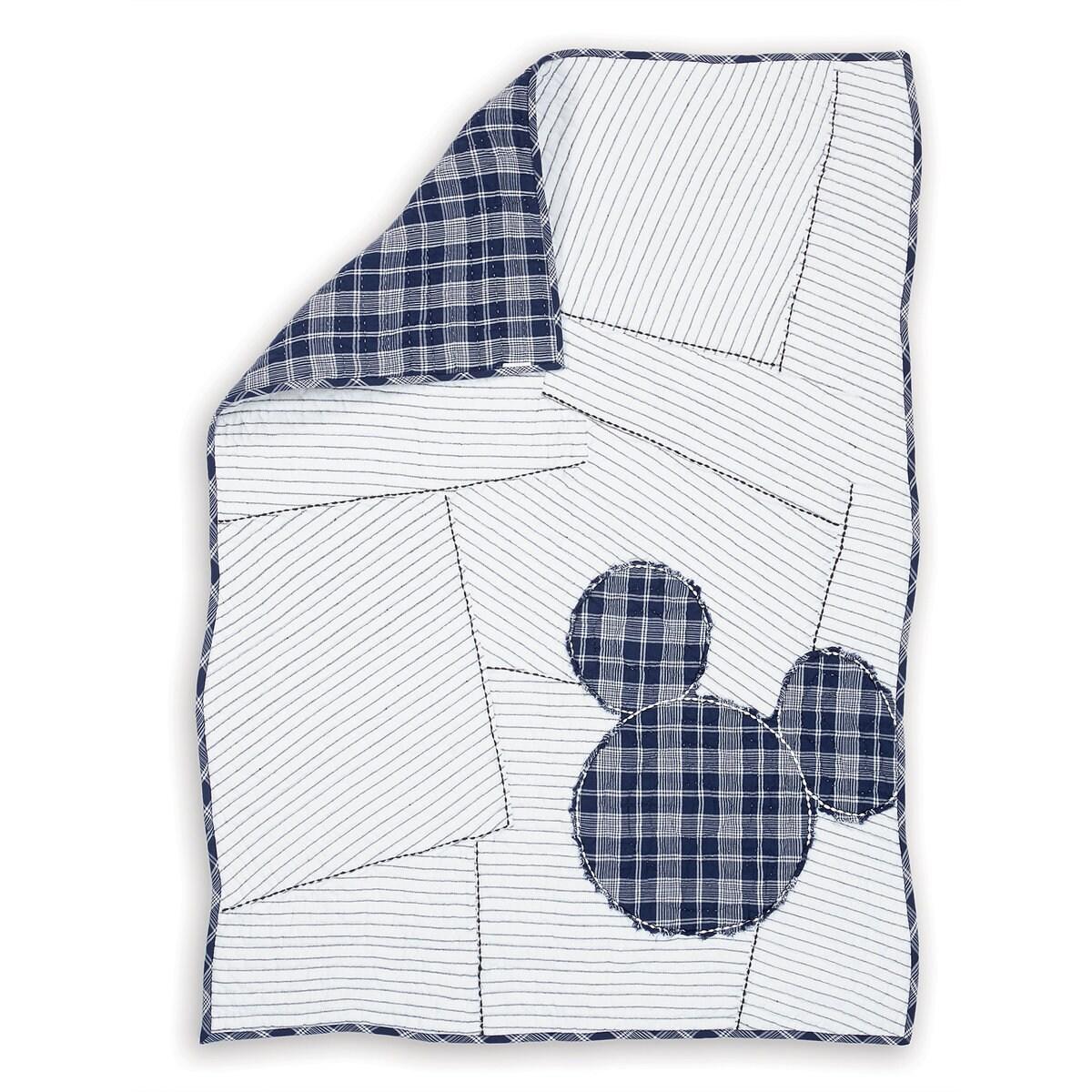 Mickey Mouse Ticking Stripe Mickey Quilt by Ethan Allen | shopDisney : ticking quilt - Adamdwight.com