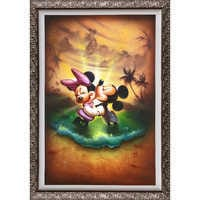 Image of Mickey Mouse and Minnie ''Life With You Is a Dream'' Giclée by Noah # 2
